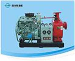 Marine emergency fire pump unit